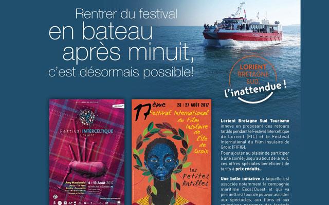 Offre spéciale nocturne Lorient Groix