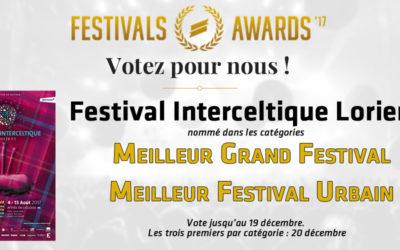 Festivals Awards 2017 : votez !