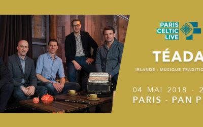 Téada à l'affiche du Paris Celtic Live