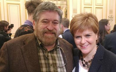 Le directeur du FIL avec les autorités écossaises