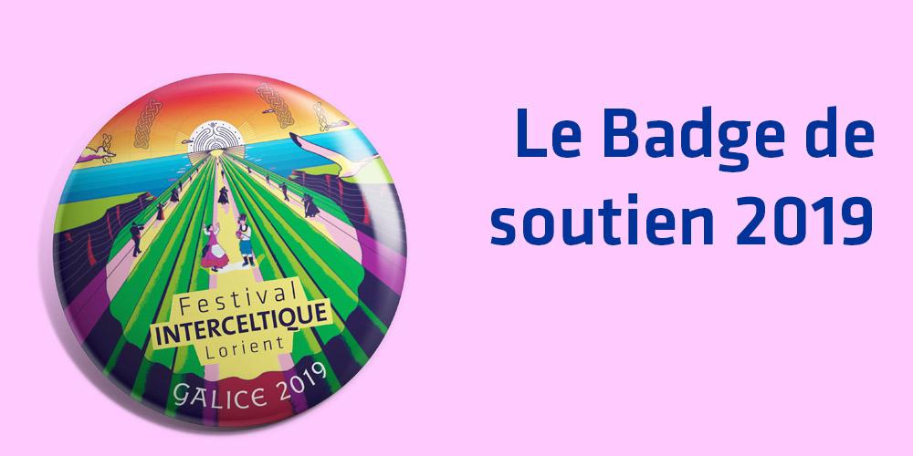 Le badge de soutien 2019