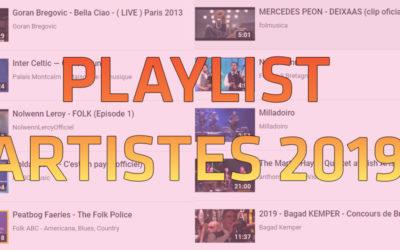 Playlist artistes 2019