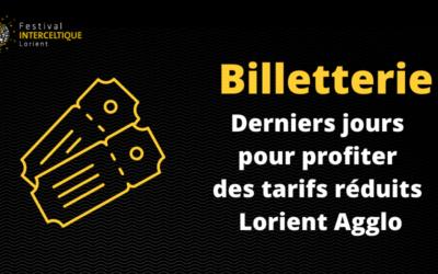 Billetterie : derniers jours pour les habitants Lorient Agglo
